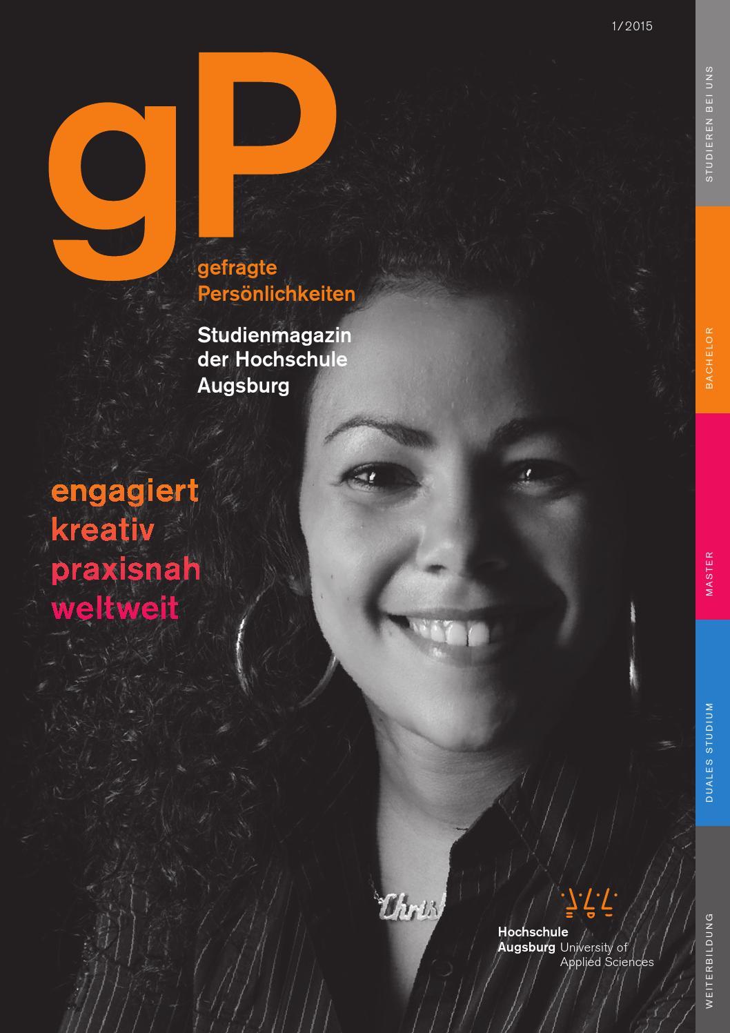 gP - Studienmagazin der Hochschule Augsburg by Hochschule Augsburg - issuu