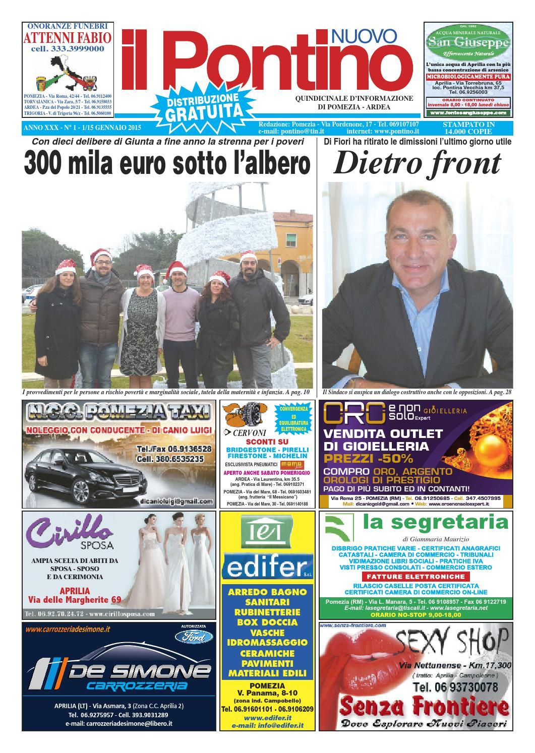 Il Pontino Nuovo - ANNO XXX N° 1 - 1 15 Gennaio 2015 by Il Pontino Il  Litorale - issuu 608494e3335