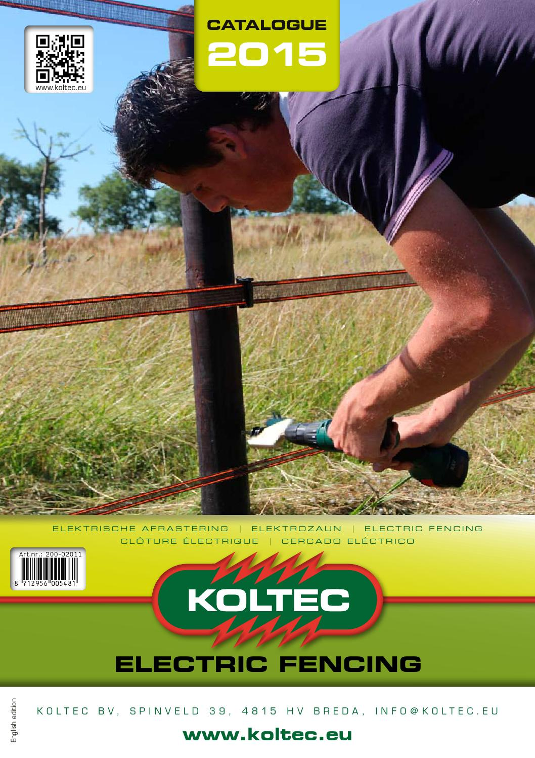 Koltec Catalogus 2015 En By Hilko Dammer Issuu Electric Fence Wire Joiner 25pcs