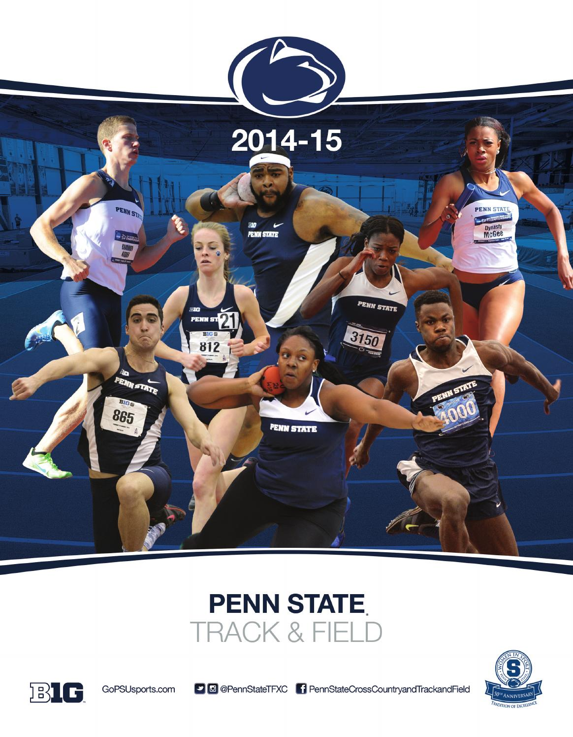 72796c65053e 2014-15 Penn State Track   Field Yearbook by Penn State Athletics ...