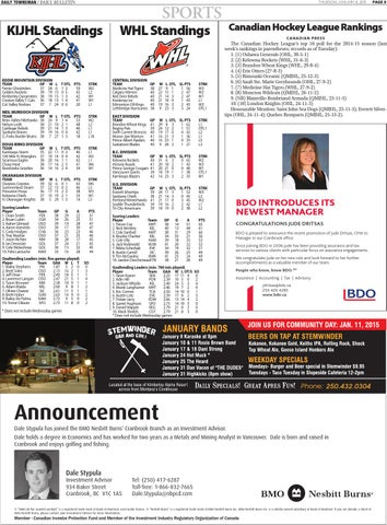 Kimberley Daily Bulletin, January 08, 2015 by Black Press