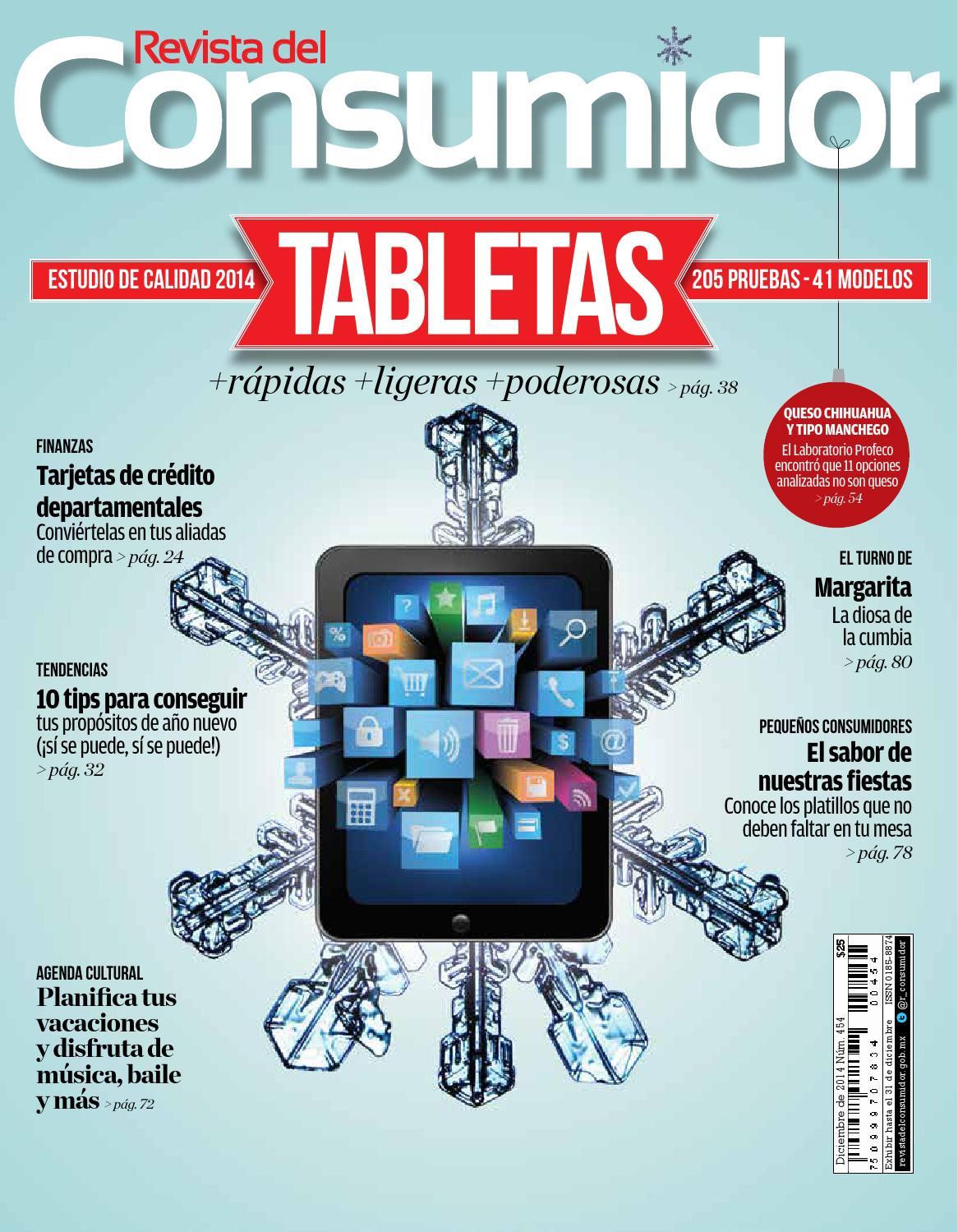 Revista del Consumidor 2014 diciembre Ed. 454 by PROFECO - issuu 2bbbf3d45997