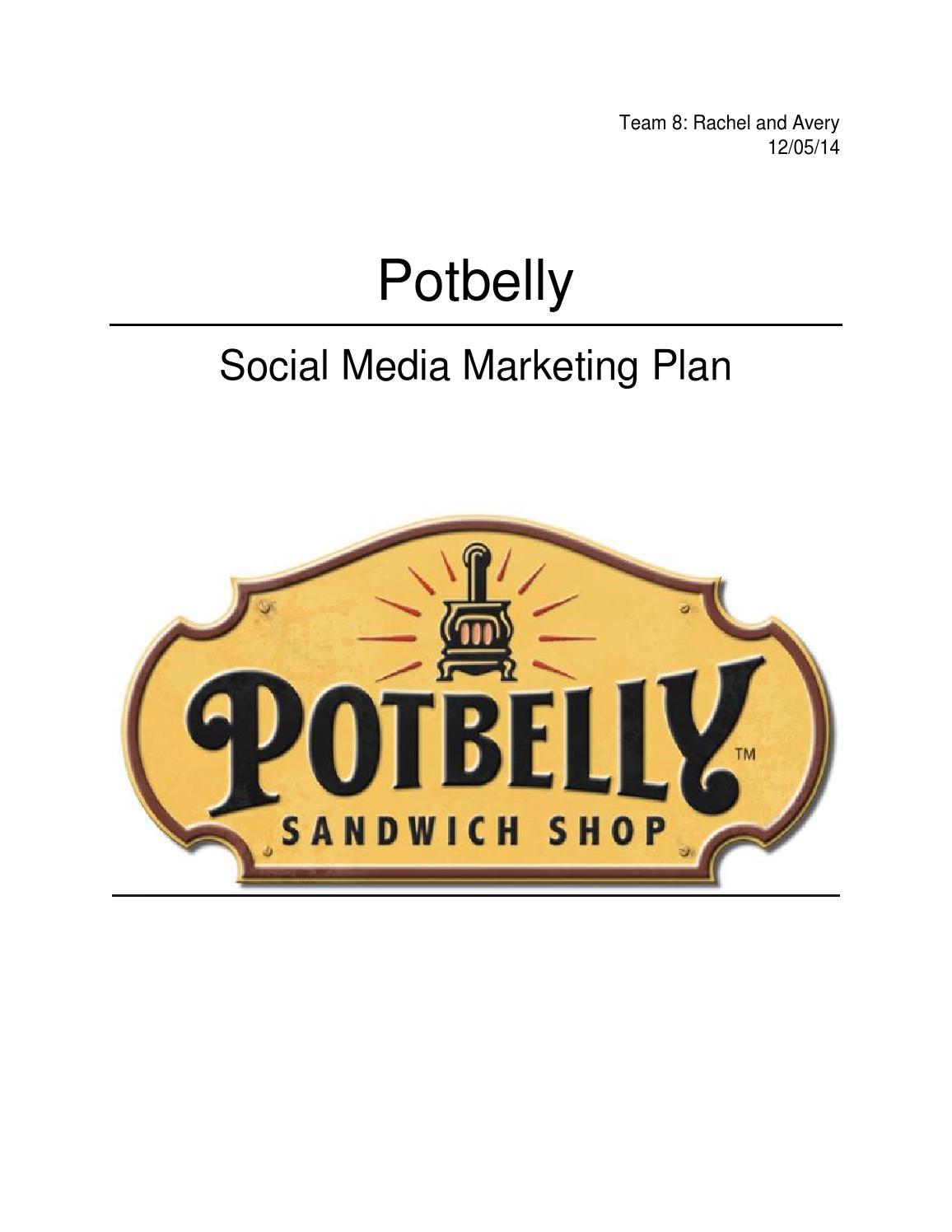 Potbelly Logo Social Media Marketing Planrachel Davis  Issuu