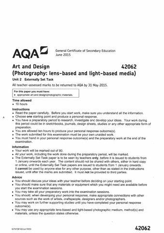 Aqa Gcse Art And Design Photography
