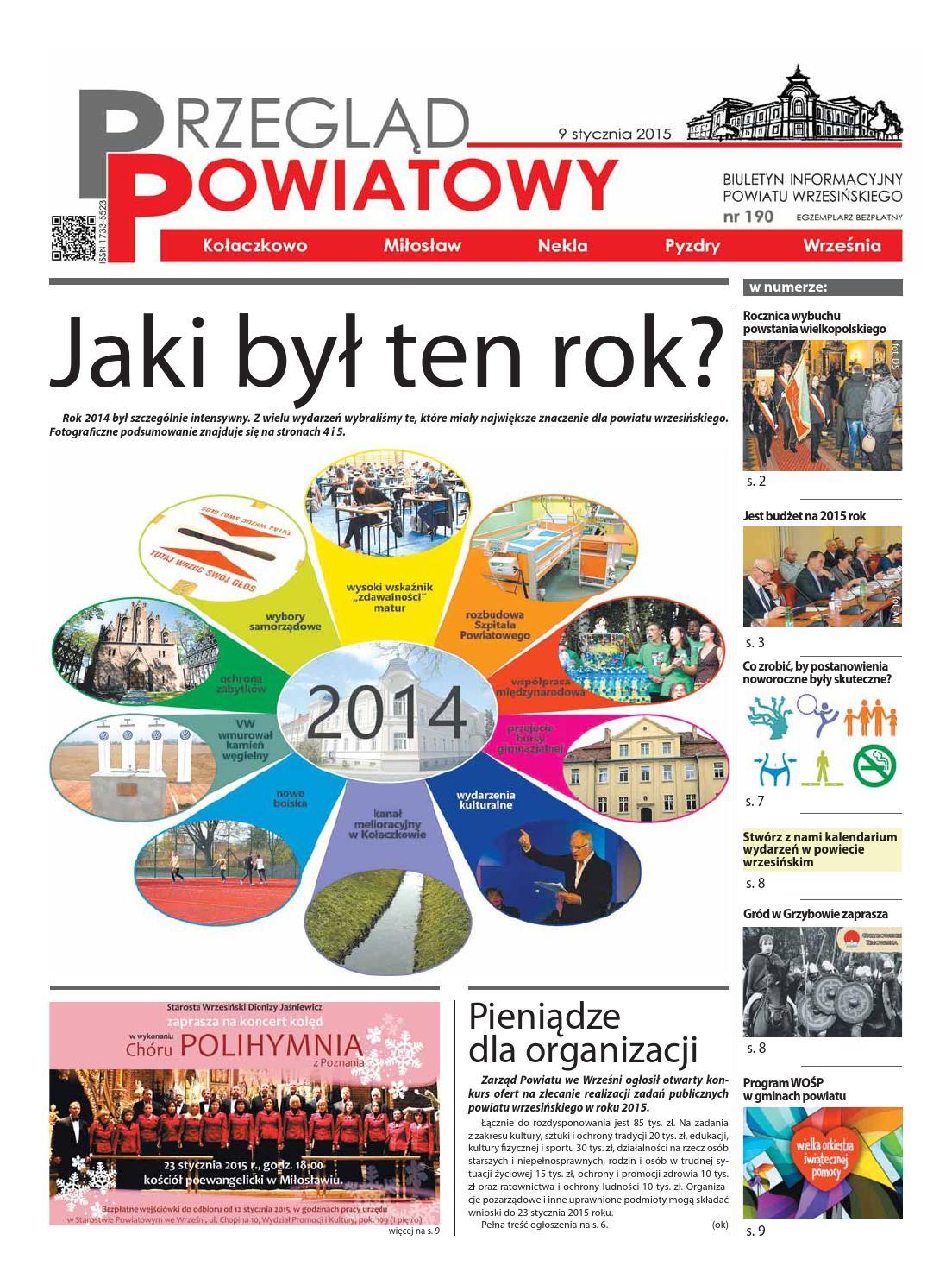Biuletyn Nr 190 Styczeń 2015 By Starostwo Powiatowe We Wrześni Issuu