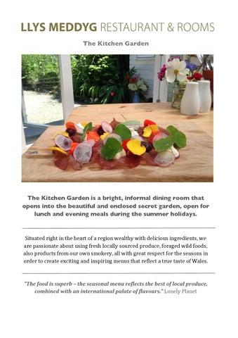 page 1 the kitchen garden - Summer Kitchen Menu