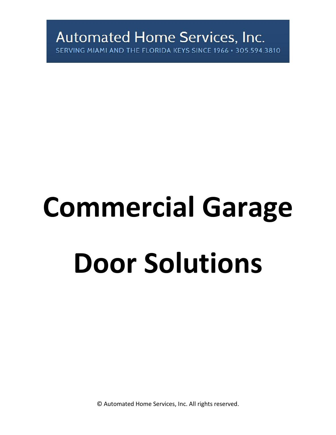 ... Decorating Florida Door Solutions Photos : Commercial Garage Door  Solutions By Automated Miami   Issuu ...