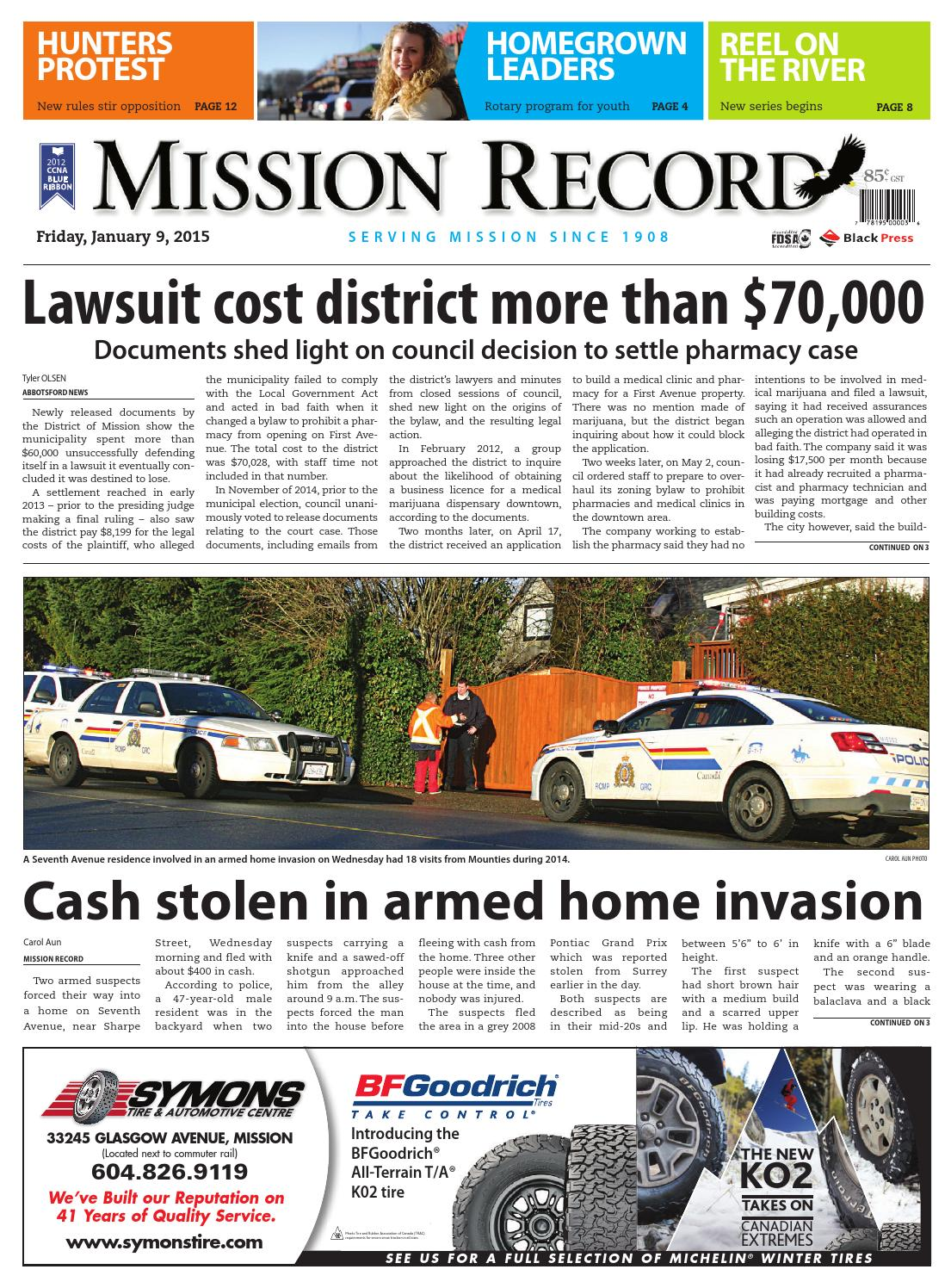 Mission City Record January 09 2015 By Black Press Issuu Remove Wiring Harness Mazda Sped3