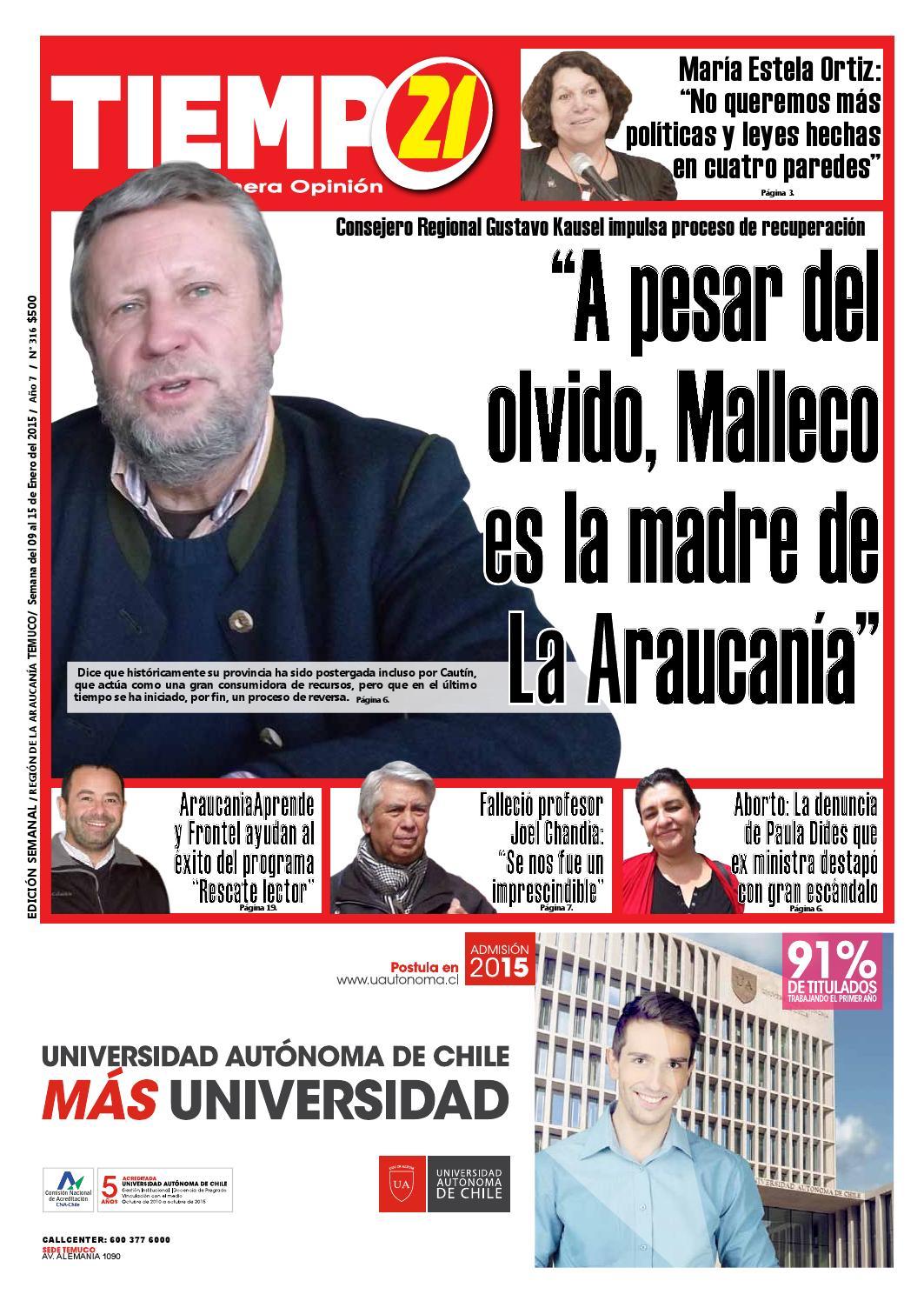 Edici N 317 Consejero Regional A Pesar Del Olvido Malleco Es  # Muebles Jouannet Temuco