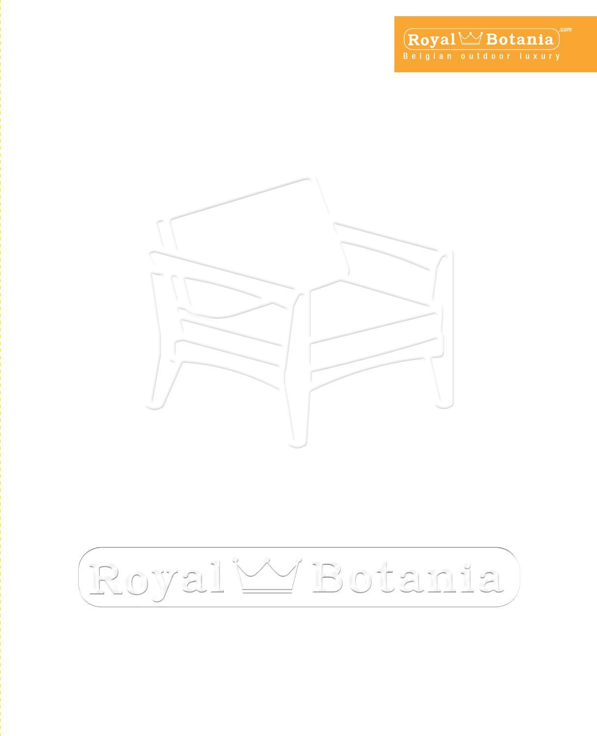 Outdoorfurniture 2015 Catalogue Royal Botania By Royal Botania Nv  # Muebles Rinnova