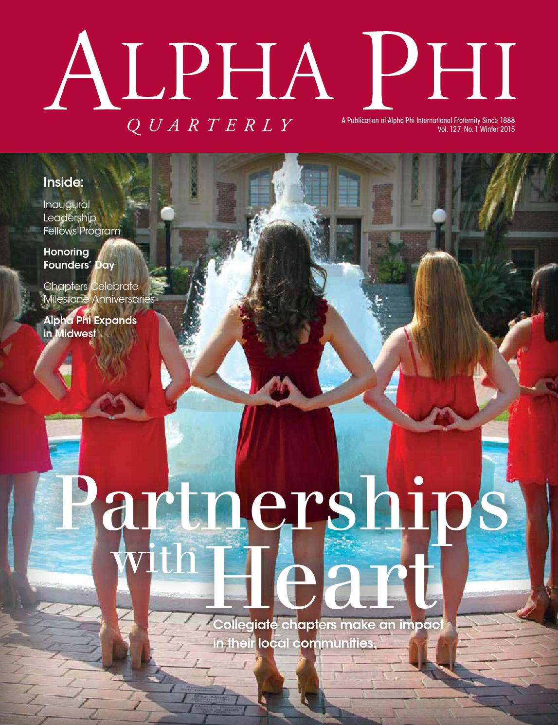 444305189b33bb Winter 2015 Alpha Phi Quarterly by Alpha Phi International Fraternity -  issuu