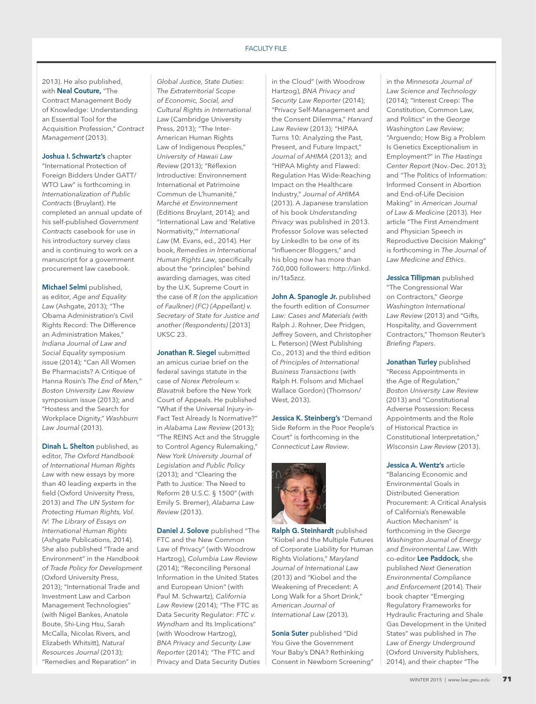 GW Law magazine – Winter 2015 by Moire Marketing Partners