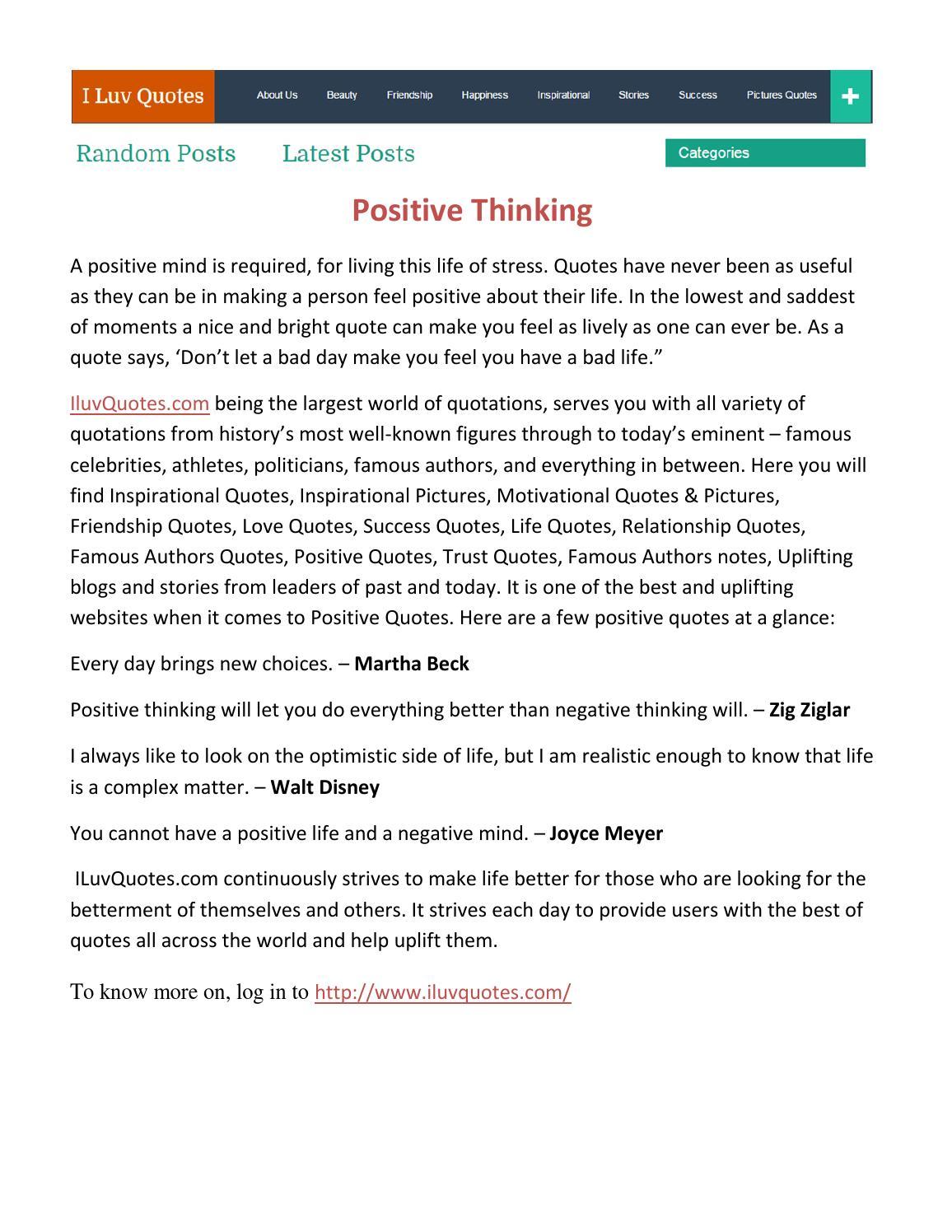 Positive Quotations About Life Positive Thinkingdeepak Kumar  Issuu