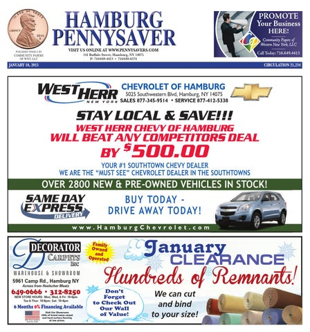 West Herr Chevy Hamburg >> Hamburg Pennysaver 01 10 2015 By Community Papers Of Wny Issuu