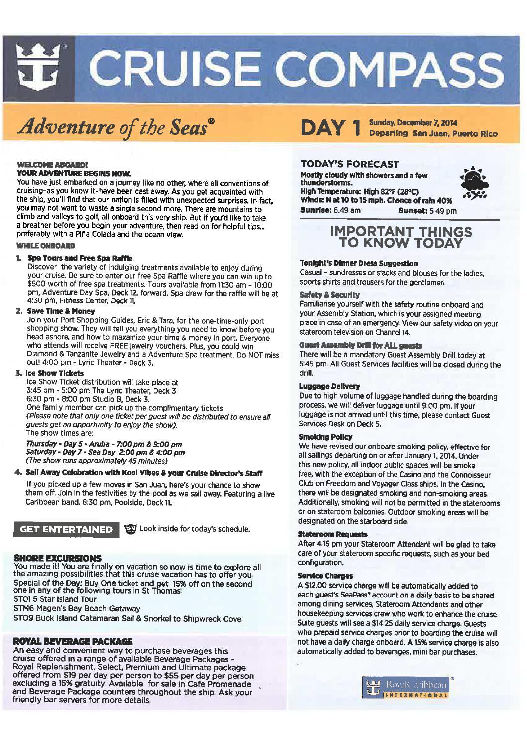 Adventure Of The Seas 7 Night Southern Caribbean Cruise
