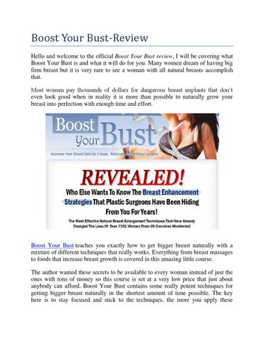 Boost your bust reviews