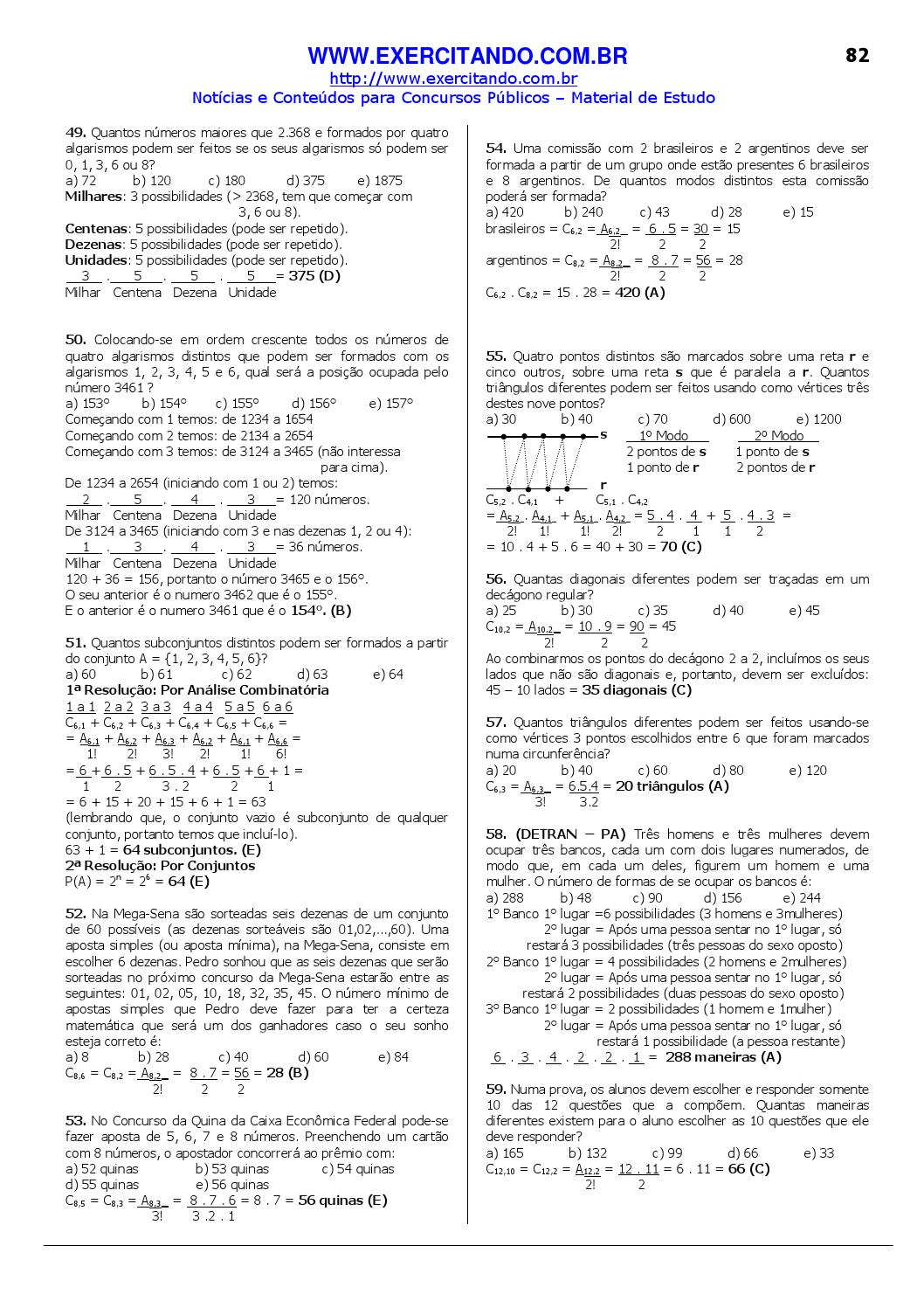Matematica 1400 Questoes Resolvidas E Gabaritadas By Cleidvaldo Oliveira