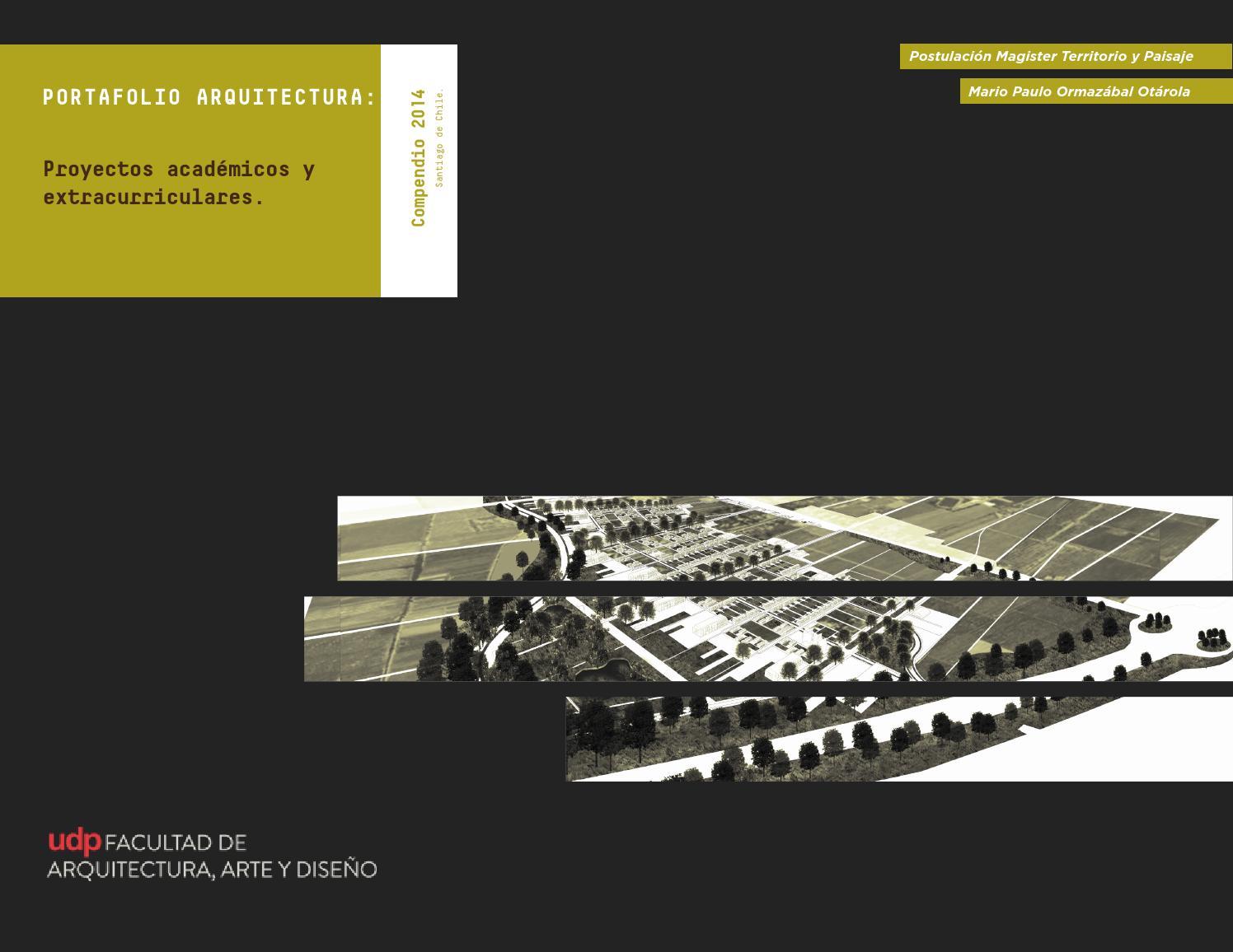 Mario Ormaz Bal O Portafolio Arquitectura Udp Compendio