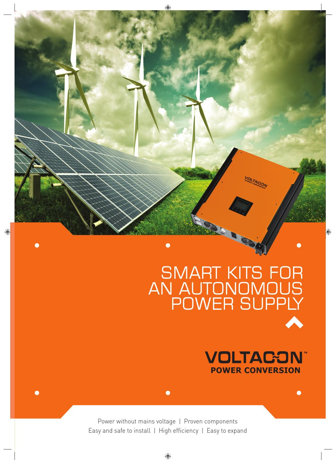 Off Grid And Hybrid Solar Inverter By Voltacon Uk Ledison Charger Further Power System Also Street Light Circuit Lighting Issuu