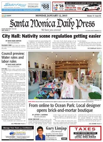 Santa Monica Daily Press, January 12, 2015