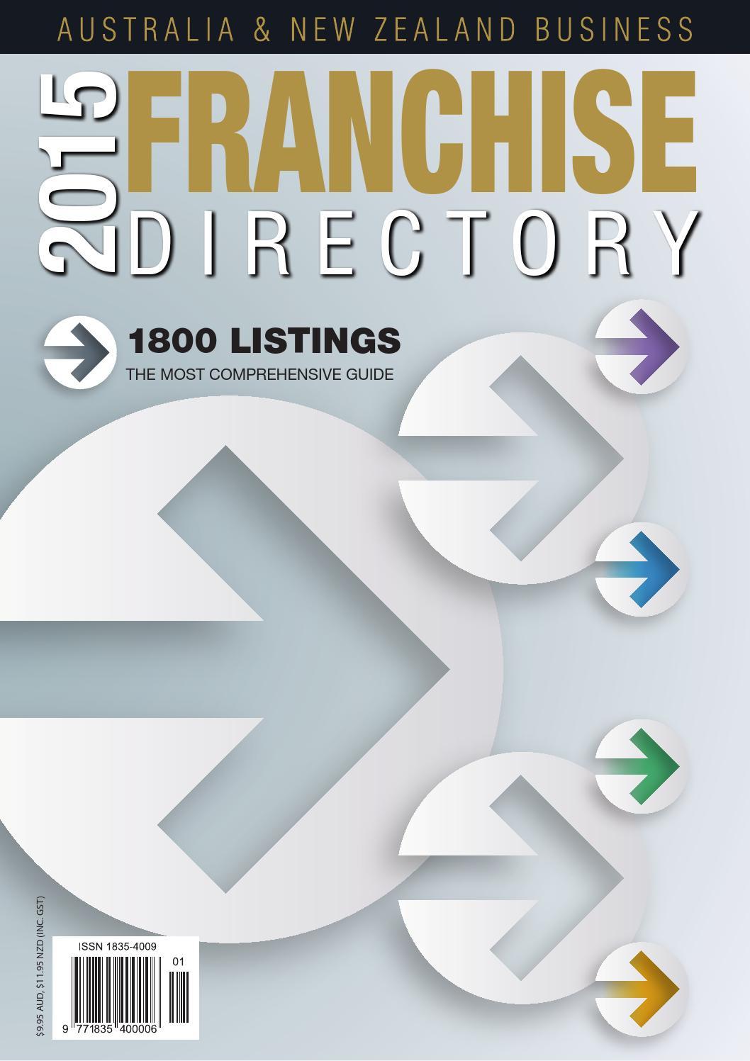 2015 Aus   NZ Business Franchise Directory by CGB Publishing - issuu af367927c5651
