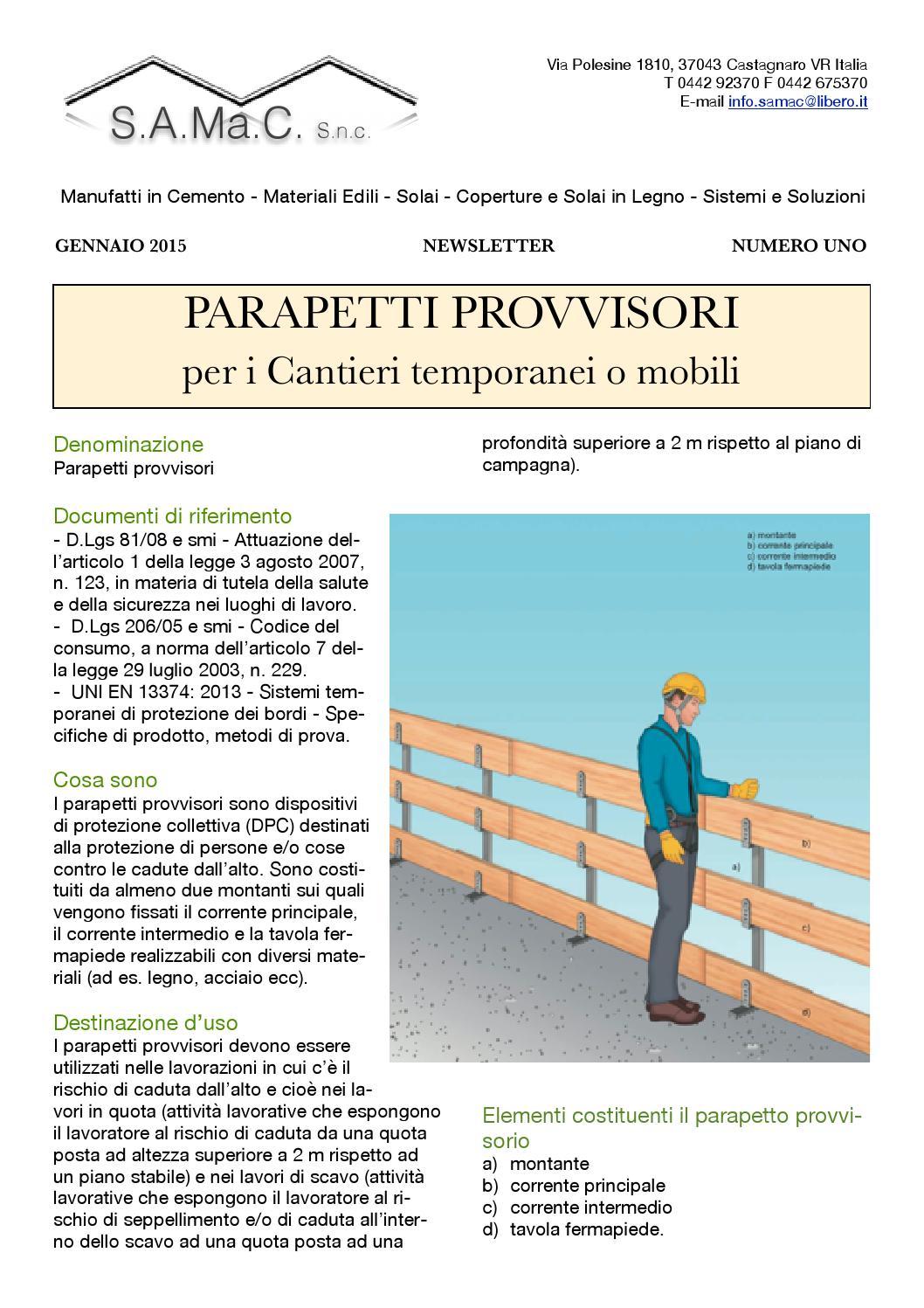 Altezza Dei Parapetti 1 newsletter gennaio 2015 by claudio campion - issuu