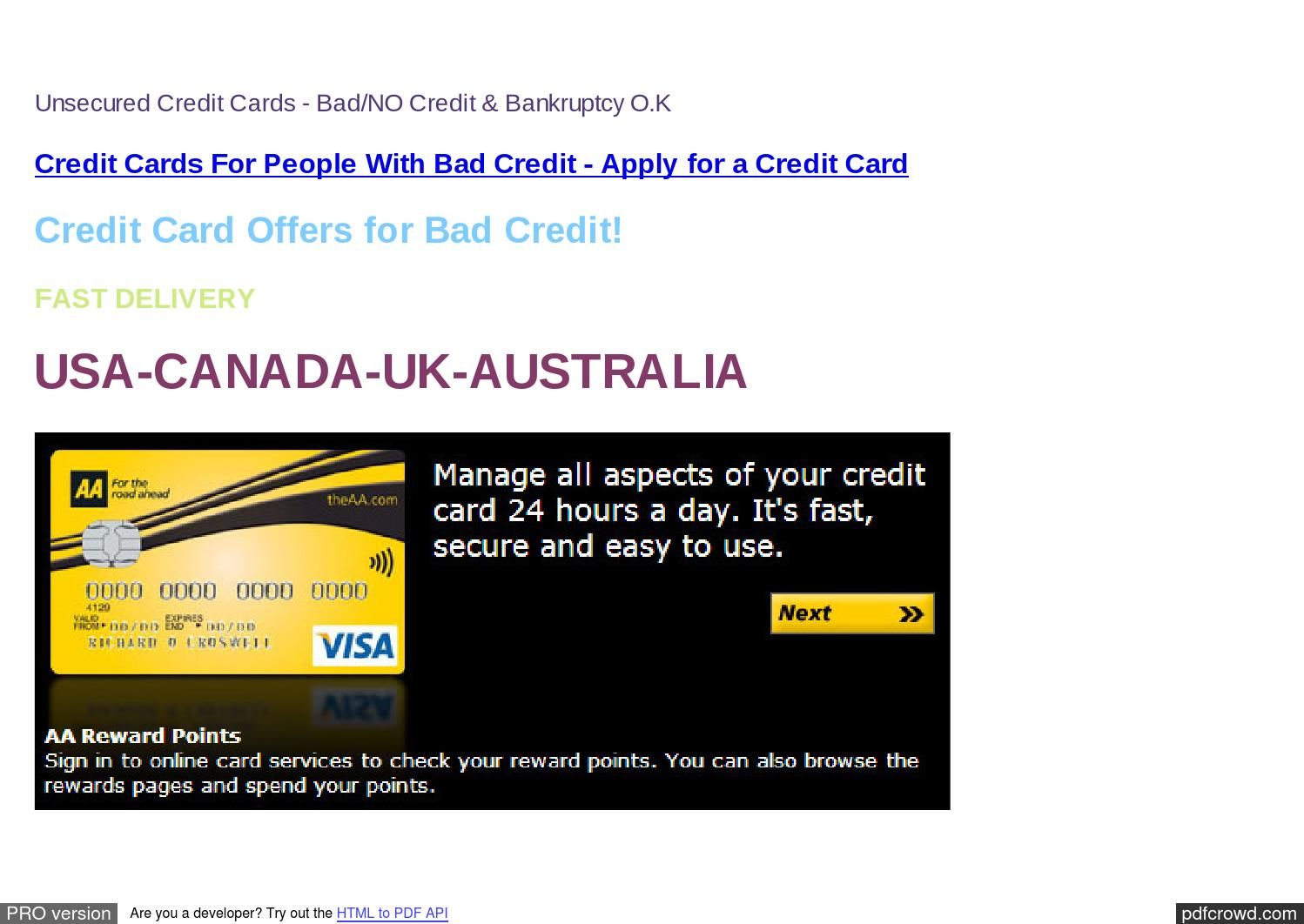No Credit Check Credit Cards >> Credit Cards Poor Credit History Credit Cards For Bad
