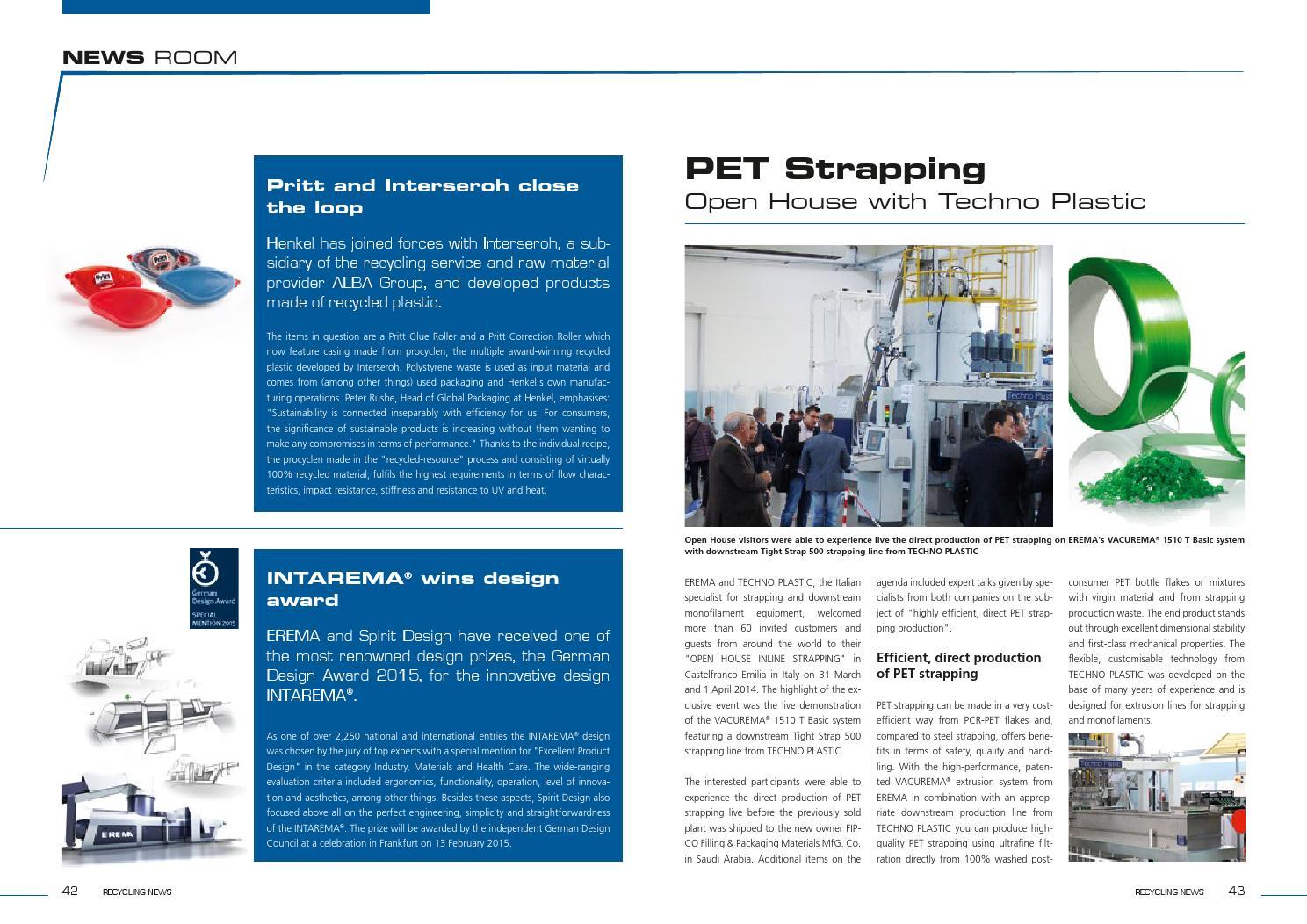EREMA Recycling News 2014/15 english by Busta + Neumayr OG - issuu