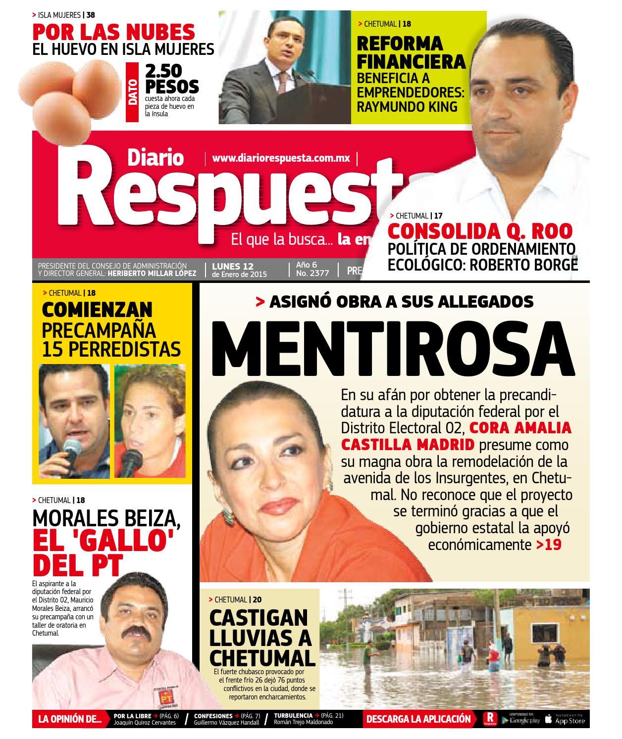 Respuesta 12 enero 2015 by Diario Respuesta - issuu 192ed4d405097