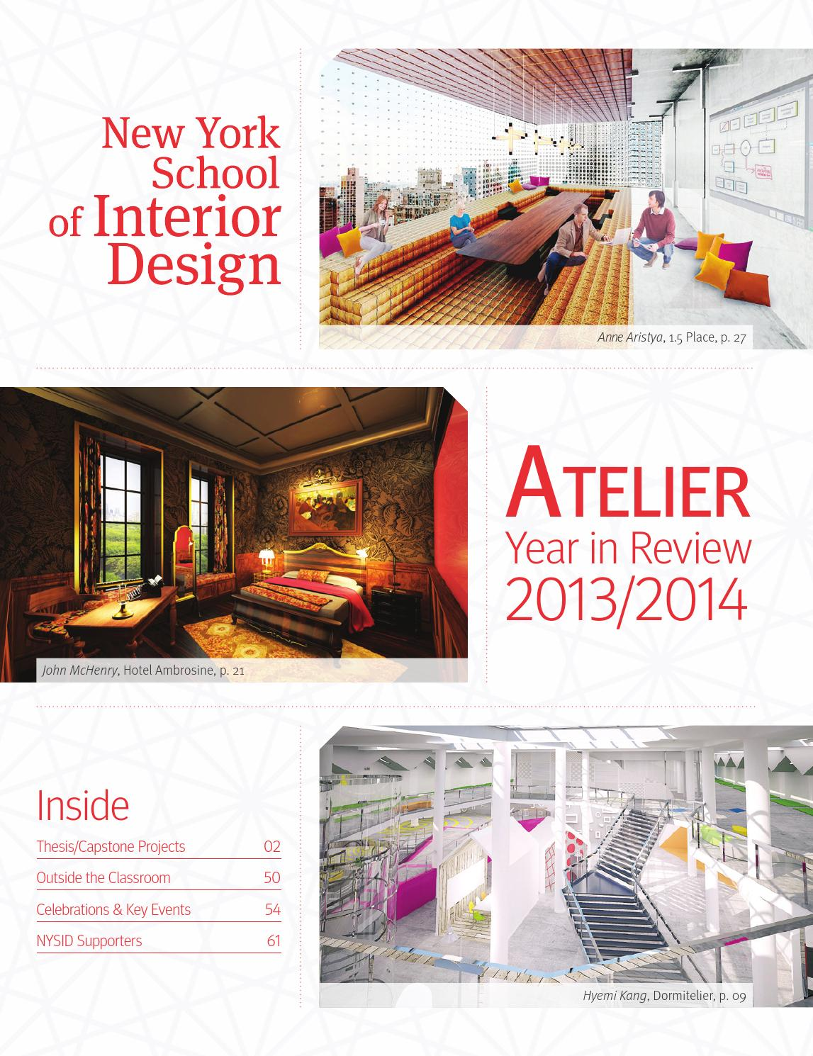 Atelier Year In Review 2013 2014 By New York School Of Interior Design Issuu