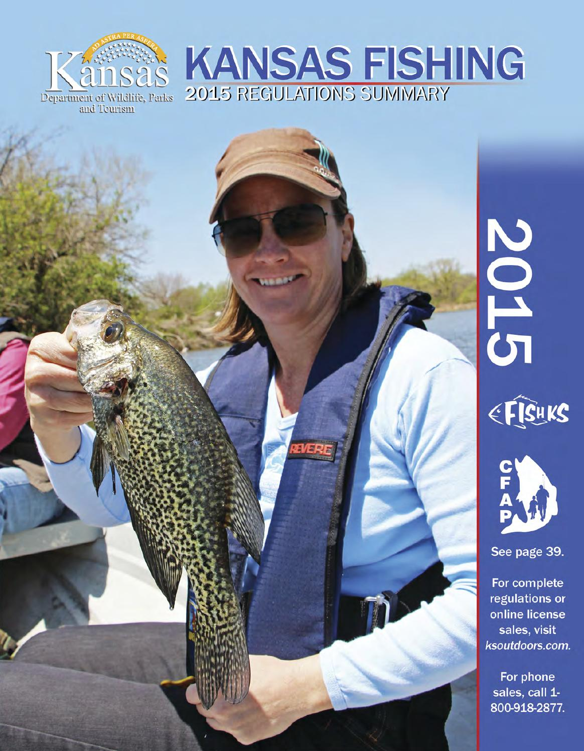 2015 kansas fishing regulations summary by kansas for Kansas state fishing license