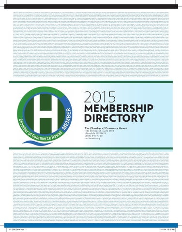 3ae8342e58a Chamber of Commerce Hawaii 2015 directory by COCHawaii - issuu