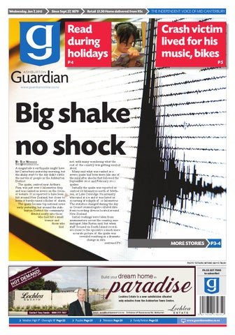 Ag 07 january 2015 by ashburton guardian issuu page 1 fandeluxe Image collections