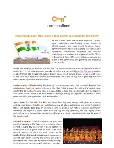 Indian republic day how to plan a good event in your apartment ...