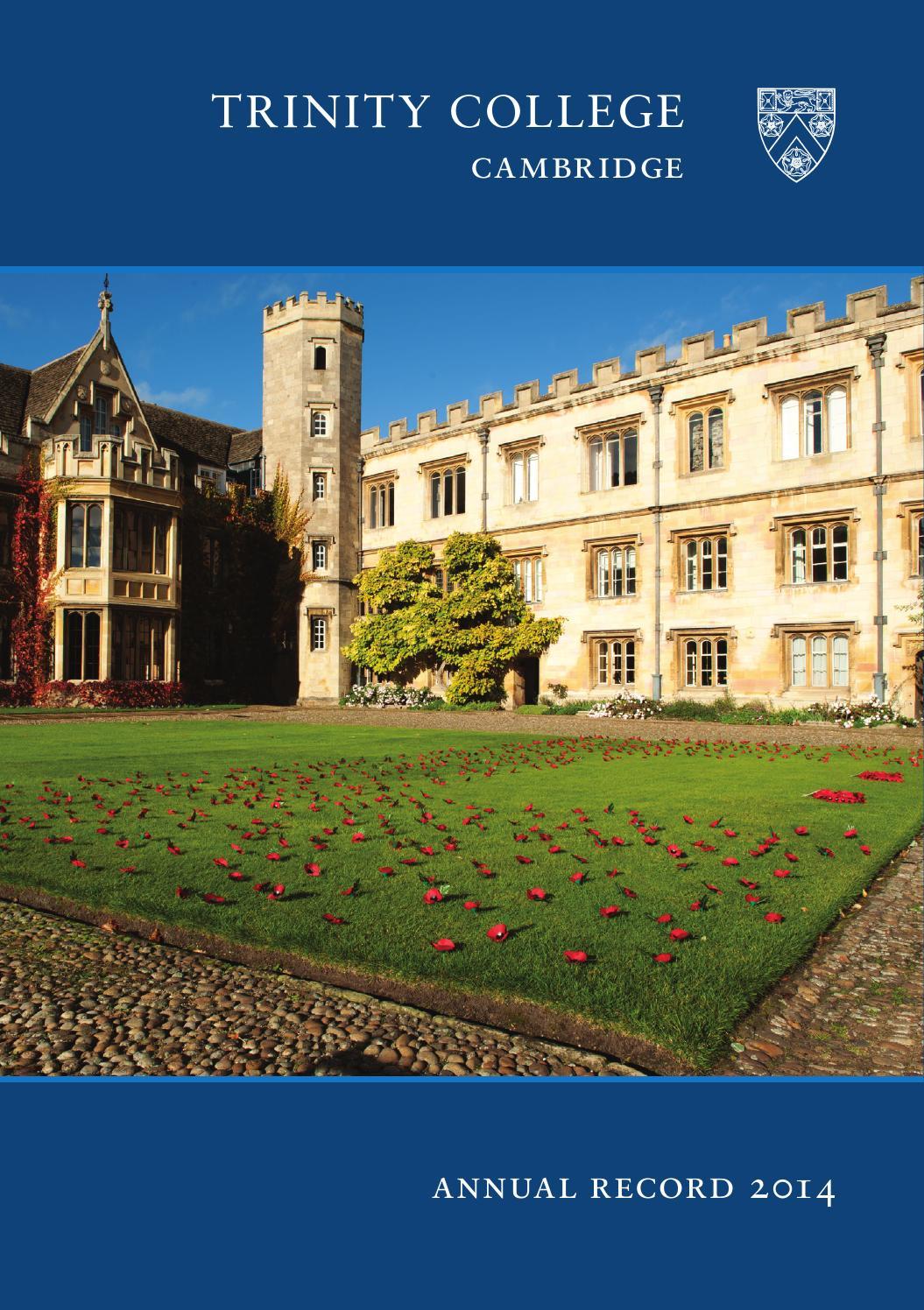 c64970a87333 Annual Record 2014 by Trinity College Cambridge - issuu