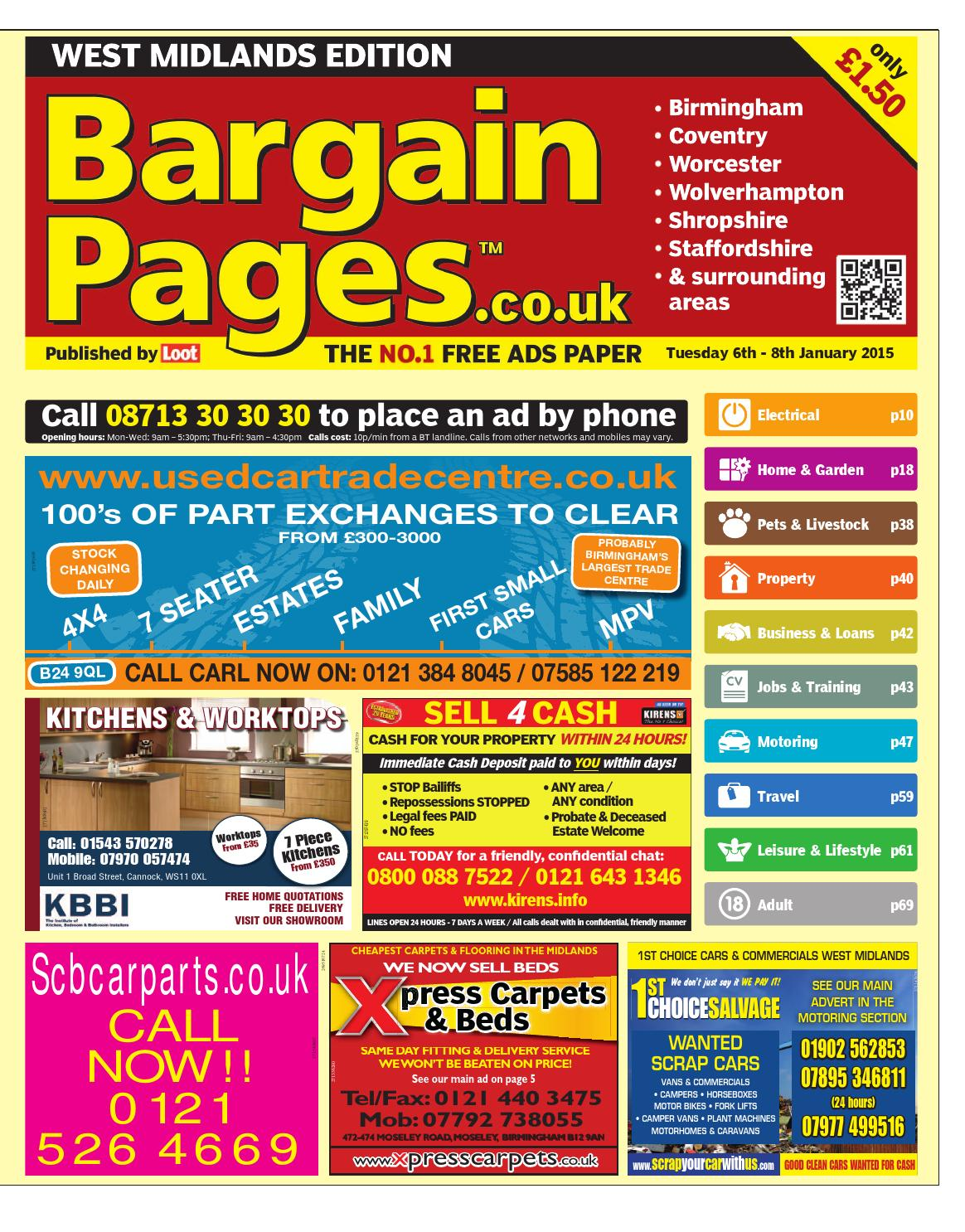 d2ebff1f60 Bargain Pages West Midlands, January 6th 2015 by Loot - issuu