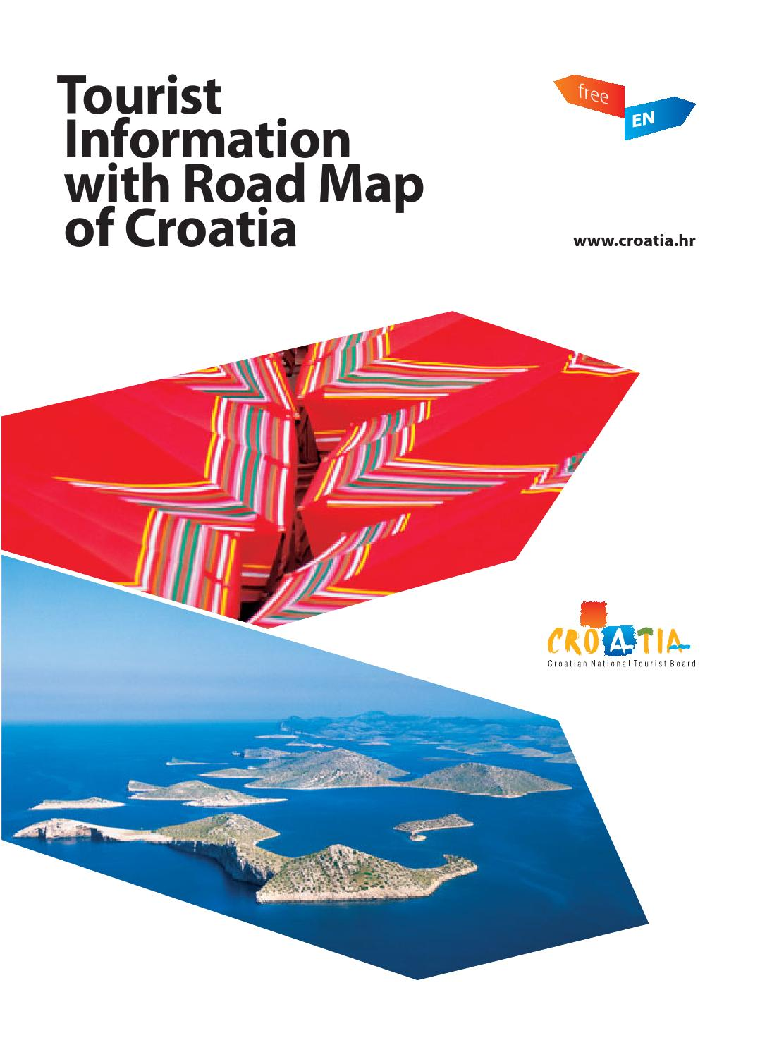 Tourist information with road map of croatia 2015 en by