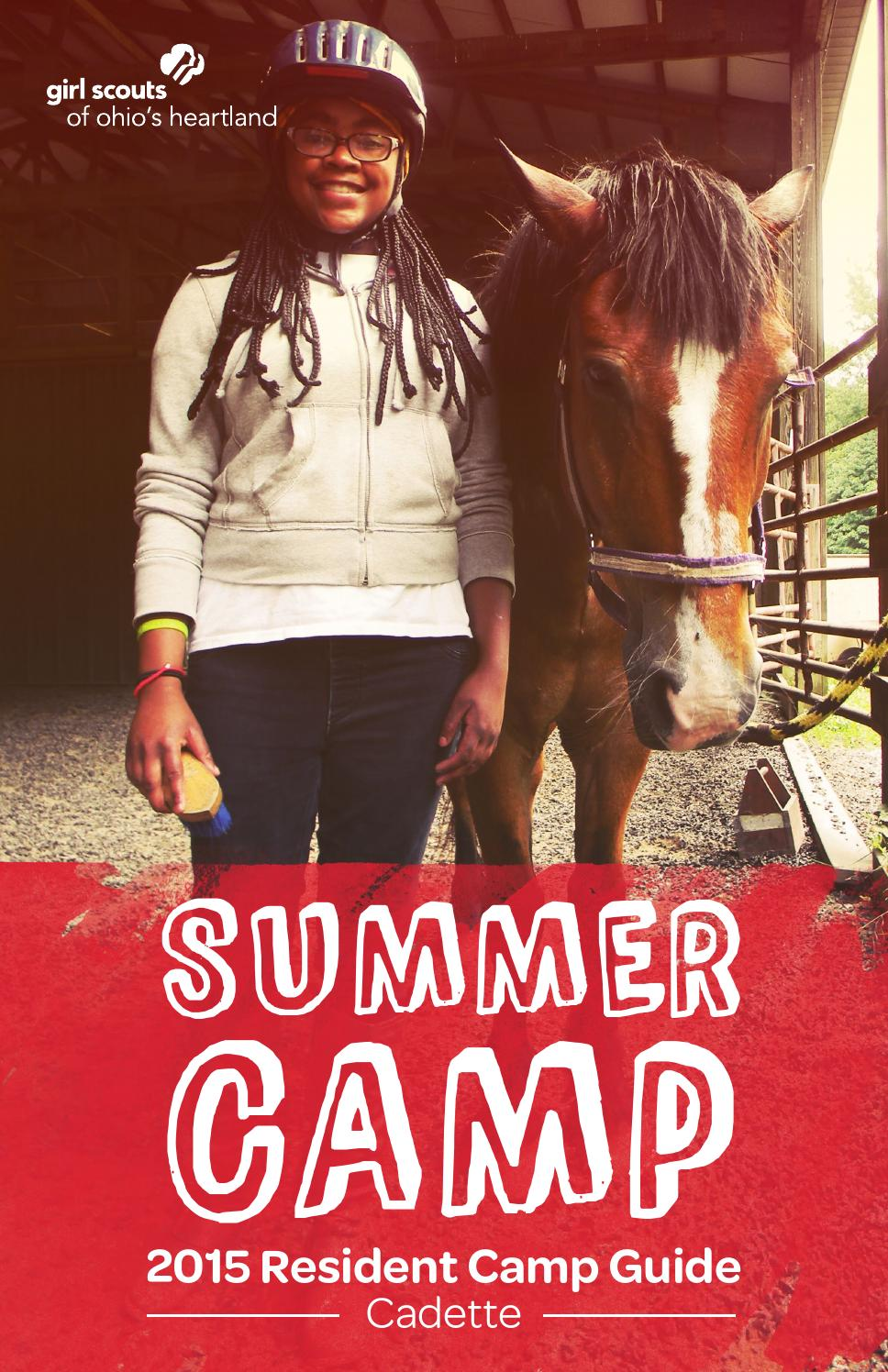 2015 gsoh camp guide cadette by girl scouts of ohios