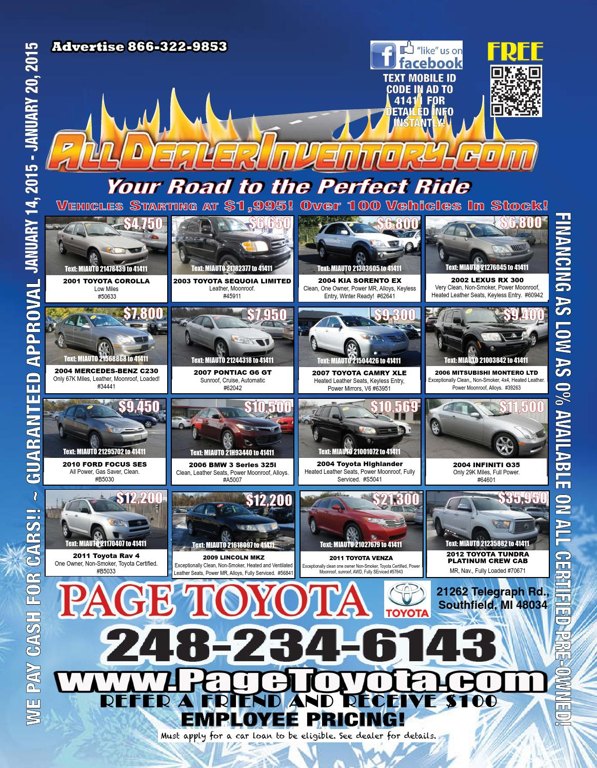 All Dealer Inventory's January 14th Digital Edition! Shop