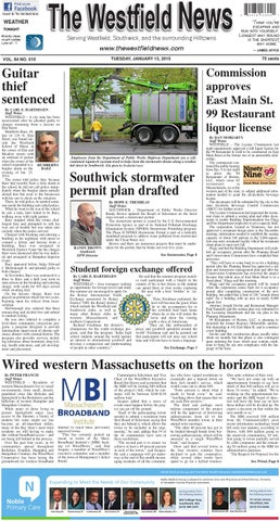 Tuesday January 13 2014 By The Westfield News Issuu