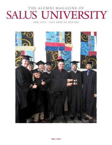 7b899b694d0 Alumni Magazine   Annual Report - Fall 2014 by Salus University - issuu