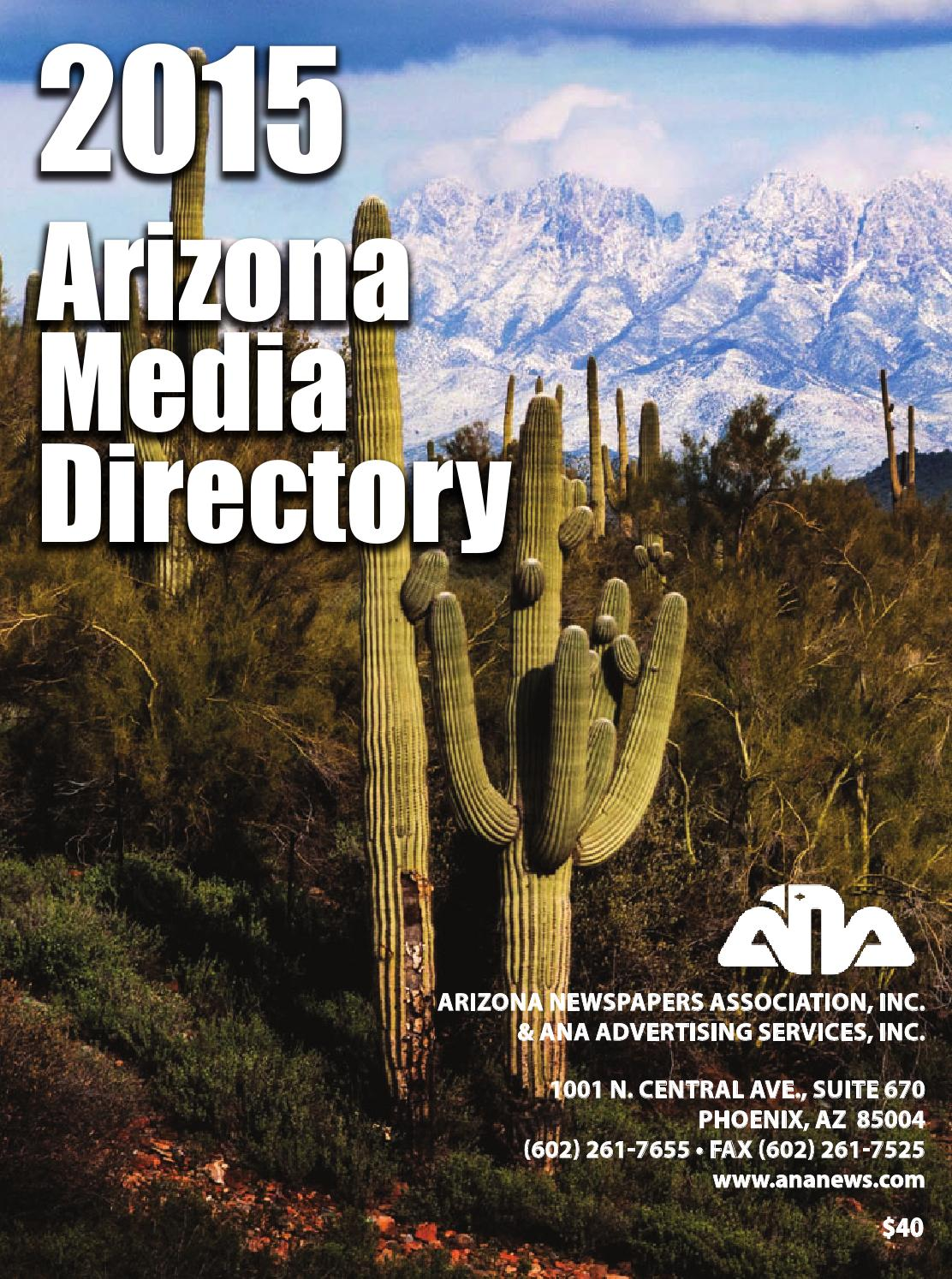 ANA 2015 media directory by Arizona Newspapers Association