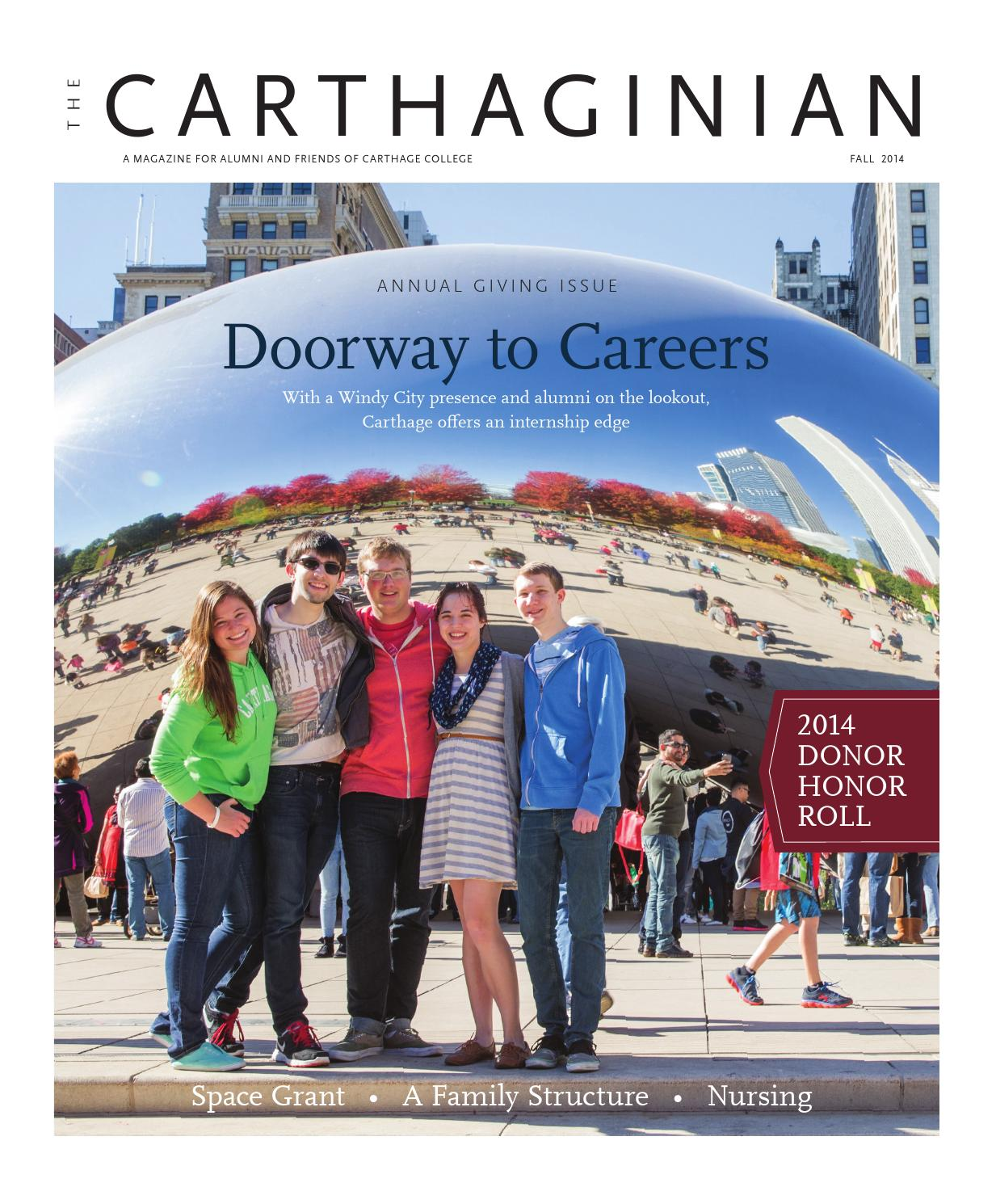 Carthaginian -- Fall 2014 by Carthage College - issuu