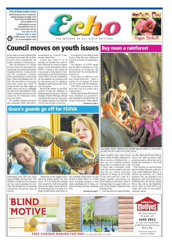 8c80d313b Byron Shire Echo – Issue 20.50 – 09 05 2006 by Echo Publications - issuu