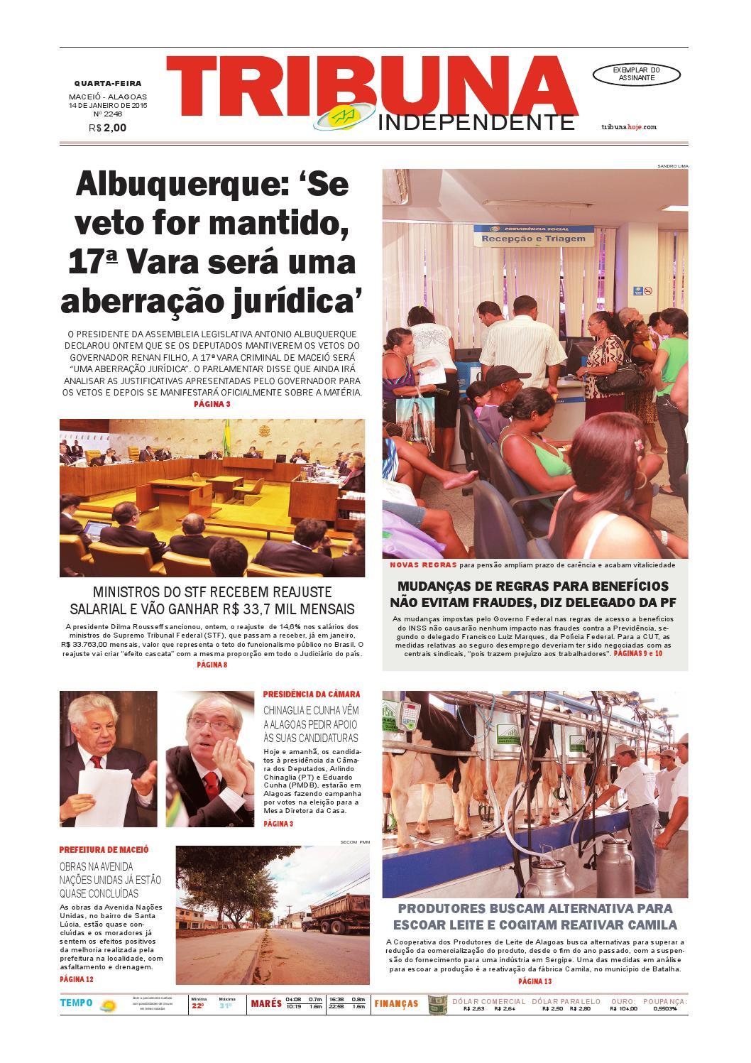 653a3a698c8 Edição número 2246 - 14 de janeiro de 2015 by Tribuna Hoje - issuu