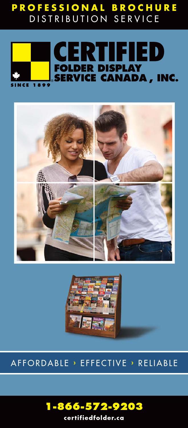 Certified Folder Display Brochure Canada By Certified