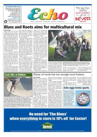 9c39ffdf75 Byron Shire Echo – Issue 20.46 – 11/04/2006 by Echo Publications - issuu