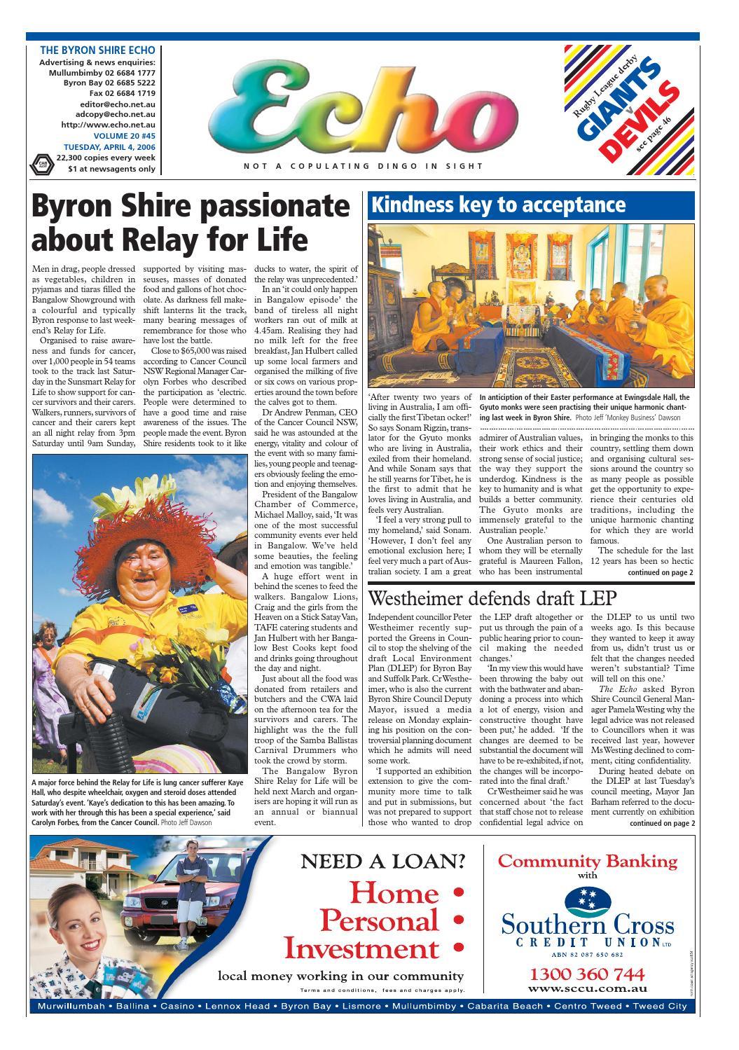 Byron Shire Echo – Issue 20 45 – 04/04/2006 by Echo