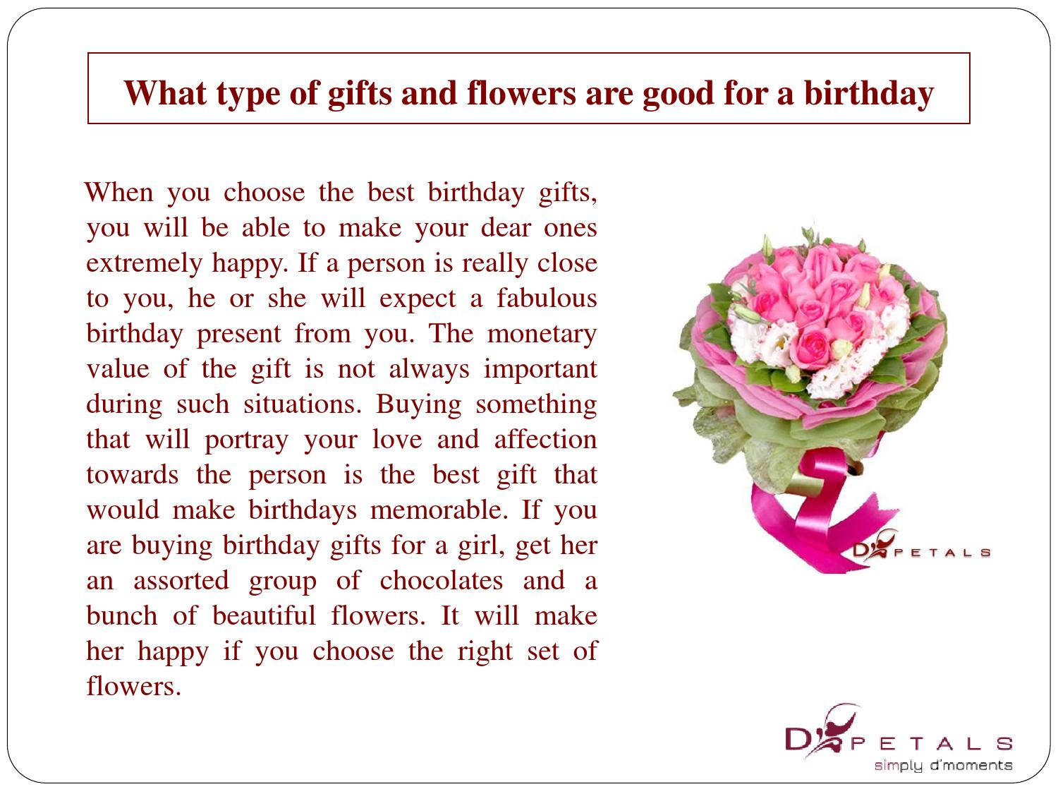What type of gifts and flowers are good for a birthday by addy smith what type of gifts and flowers are good for a birthday by addy smith issuu izmirmasajfo