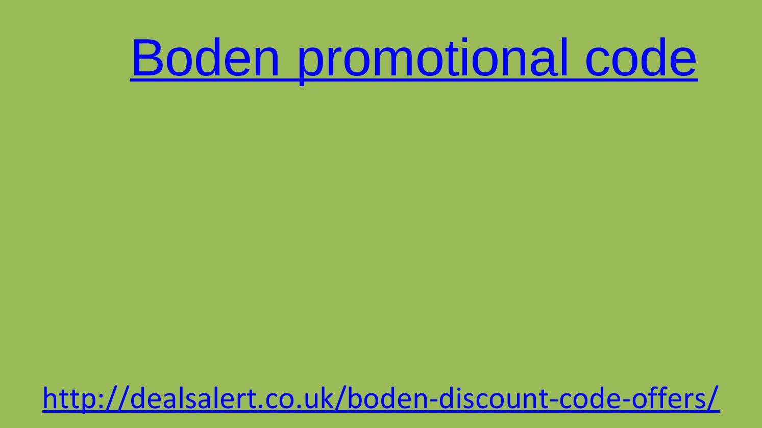 Boden Discount Code By Educatedseat Issuu